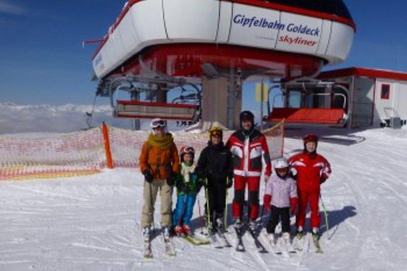 Skifahren am GoldeckDa kommt Freude auf!