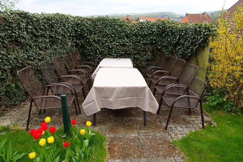 Treffen im Garten