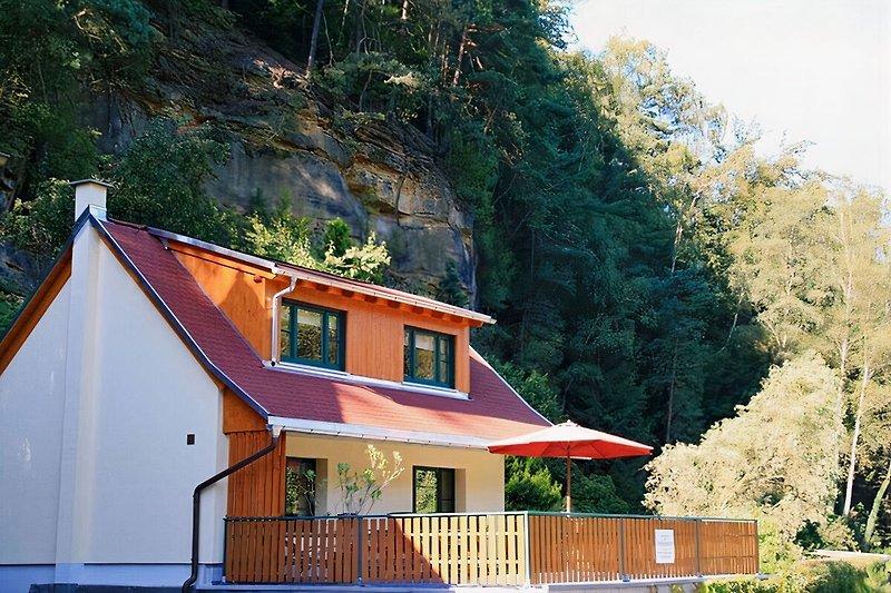 Ferienhaus mit Kamin im Sebnitztal