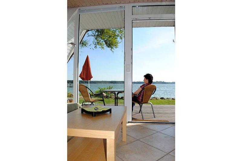 Terrasse mit Blick auf den Schweriner See