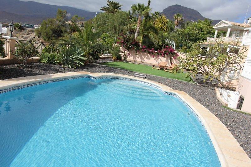 Der Poolbereich- Villa Apolonia