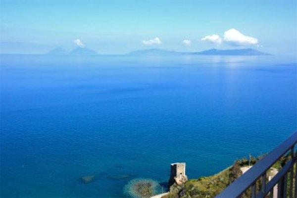 Fantastische Sicht auf das Meer und alle Eolischen Inseln