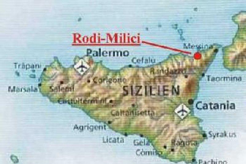 Rodi Milici ist bei Milazzo