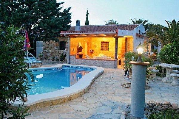 Privat-Pool und Ferienhaus