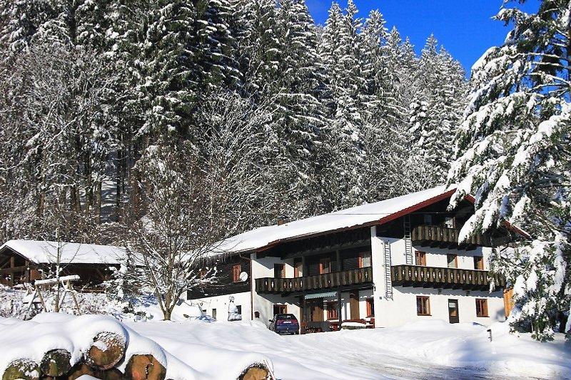 Ferienhaus Schönbacher Hütte im Winter