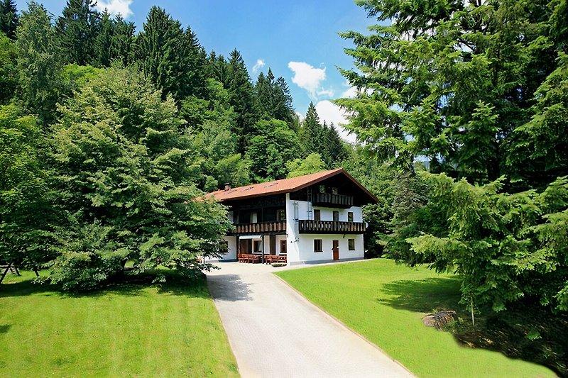 Ferienhaus Schönbacher Hütte im Sommer