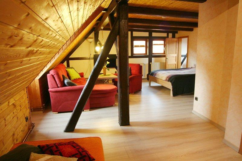 Rustikale Dachgeschosswohnung