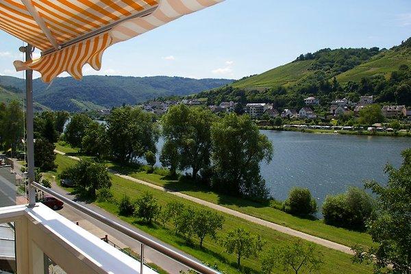 Ferienwohnung mit Balkon und Blick aufs Wasser