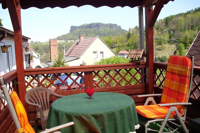 Ihre Terrasse mit Blick zum Lilienstein