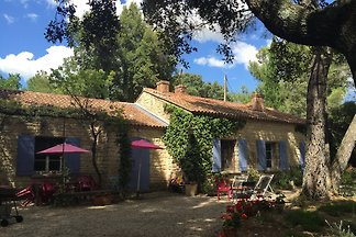 Stone villa with large pool, large wooded property, 2 bedrooms, private garden, large terrace. Surrounded by vineyards and olive groves. At the foothills of Mt Ventoux.