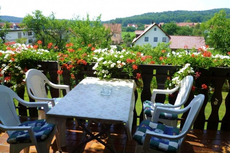 Ihr überdachter Balkon mit Blick in die Natur