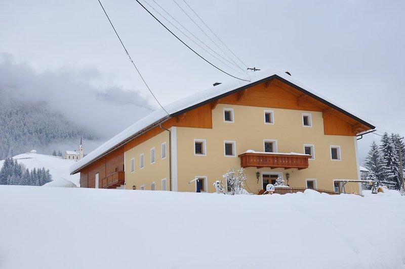 Ferienhaus-Winterfoto