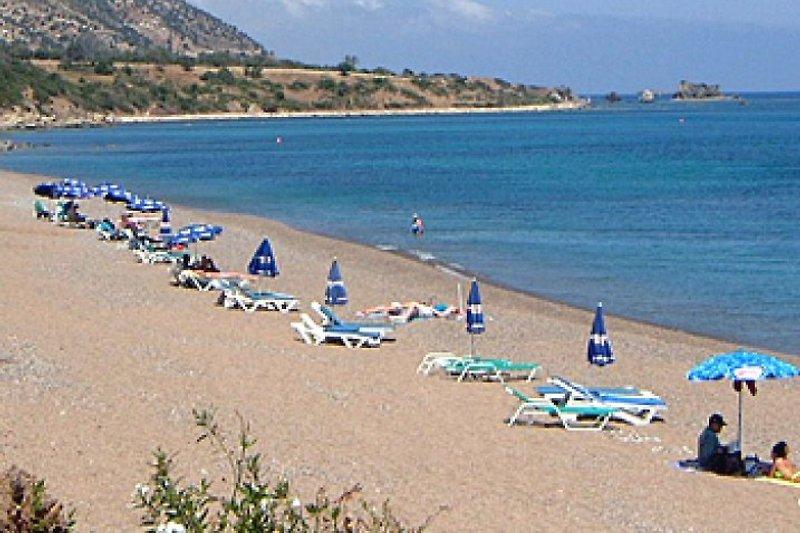 Ein einsamer Strand mit viel Platz und Privatsphäre
