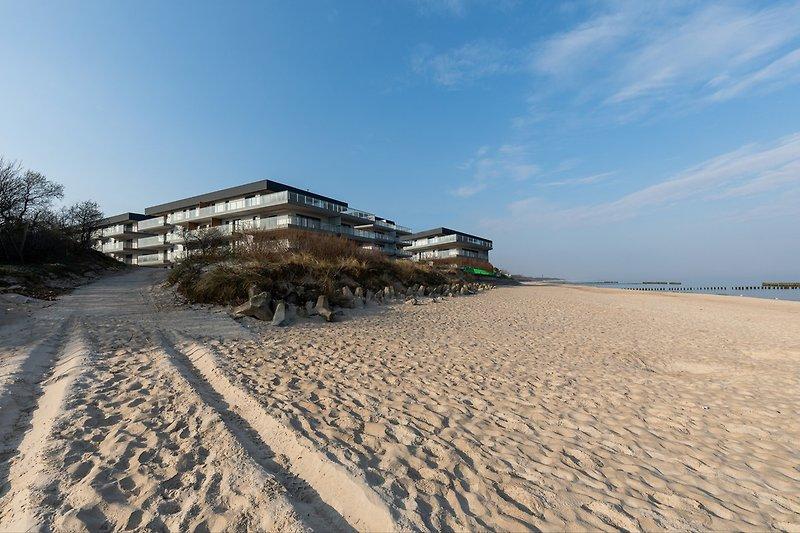 Gebäude am Strand
