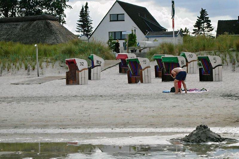 Strandblick auf das Appartementhaus
