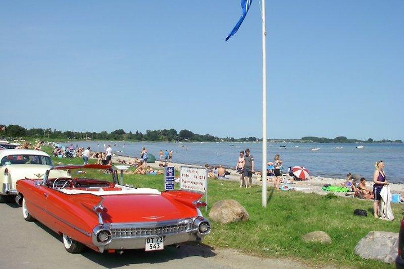 Binderup Strand (250 M) mit Blauer Flagge. Sicherer Badestrand in Sonderklasse.