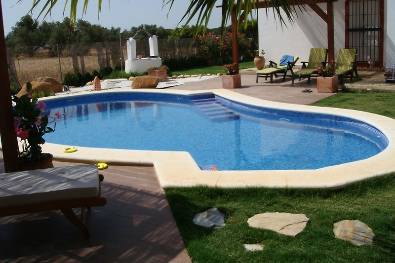 Ferienhaus Los Anos Locos mit Pool