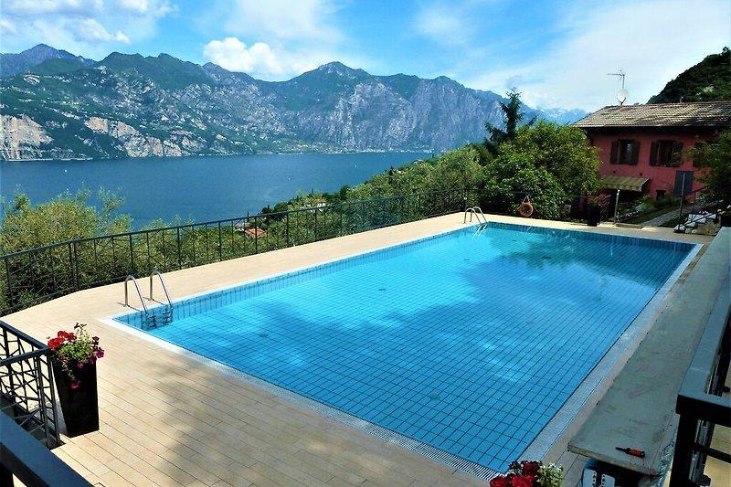 Swimming Pool mit Seeblick