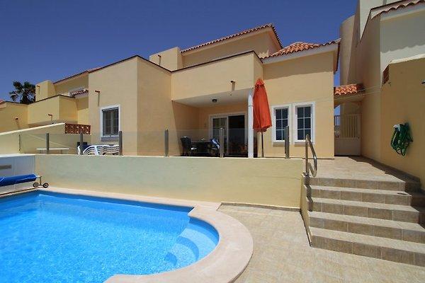 Pool und Haus von hinten
