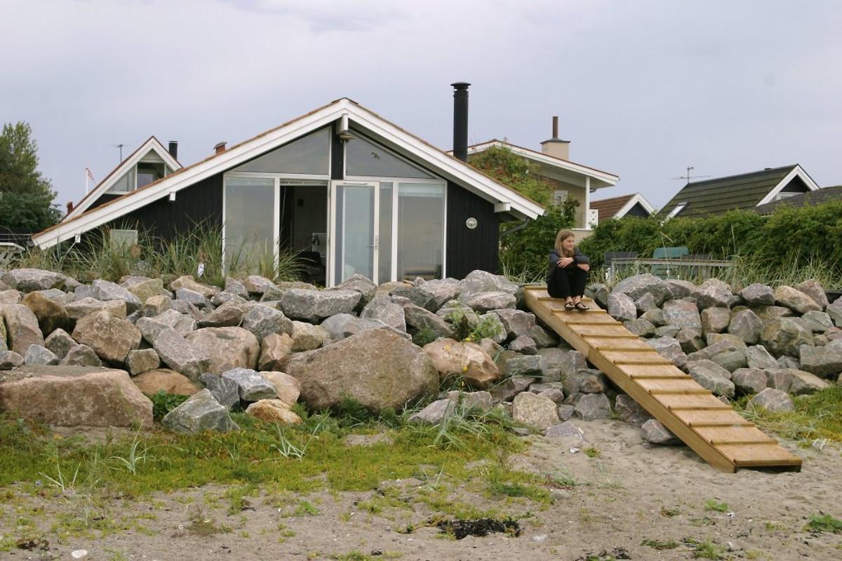 Tolles Ferienhaus direkt am Strand - Ferienhaus in Otterup ...