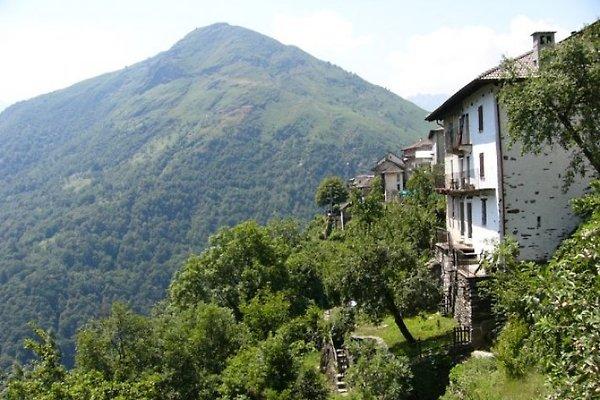 Südseitig, mit unverbaubarem Blick über das Valle Cannobina, steht die Casa Panoramica am Ortsrand von Spoccia