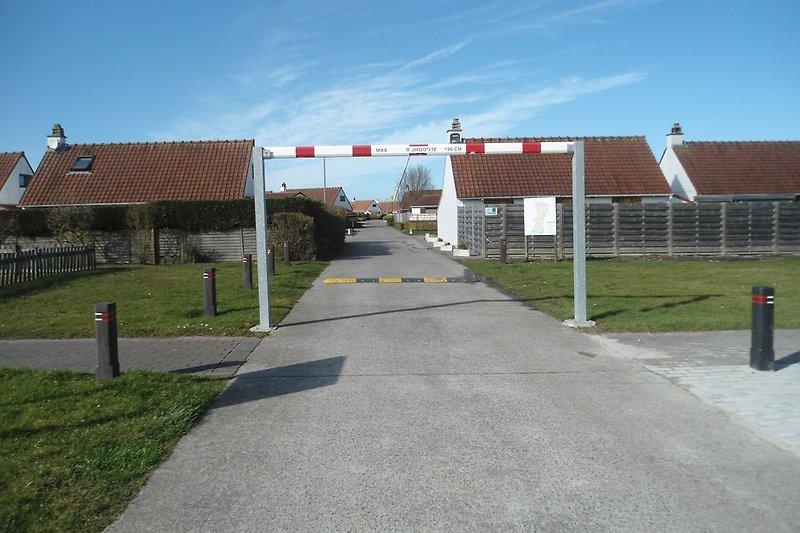 Eingang Westendelaan begrenzt auf 1,90 m