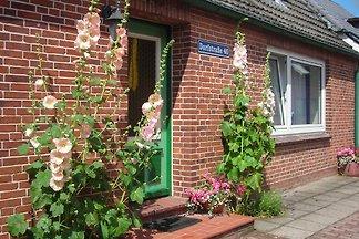 Moin auf der Halbinsel Eiderstedt und herzlich willkommen in unserem großen, gemütlichen Ferienhaus. Urlaub für Familien, auch mit Großeltern oder Freunden. Haustiere wohnen frei.