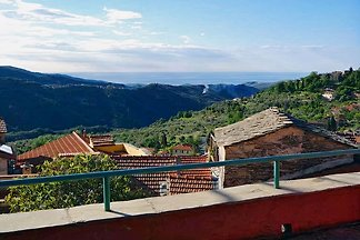 Holiday house in idyllic village, panoramic terrace