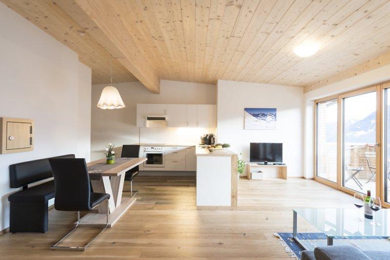 Küche und Wohnraum Piz Buin