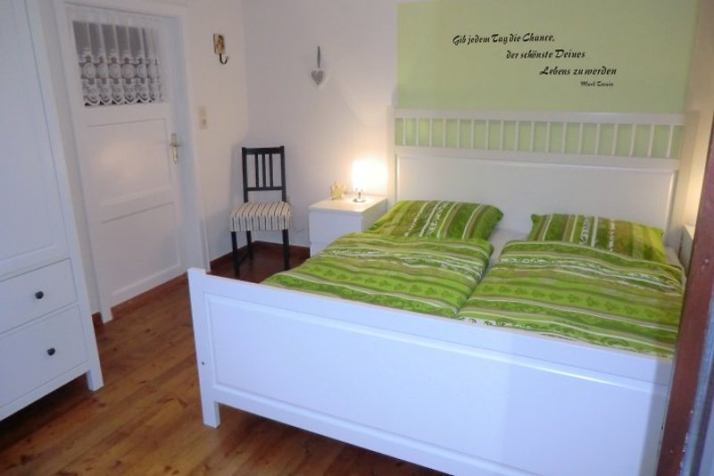 as grüne Schlafzimmer