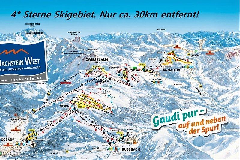Top Skigebiete in 20 Min. erreichbar