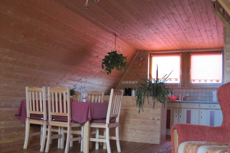 Wohnbereich mit integrierter Küche
