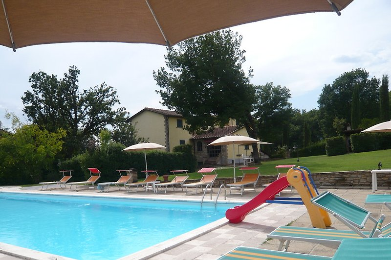 The villa with the wonderful pool and games for children