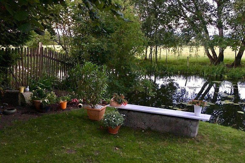 Garten mit Blick aufs Wasser