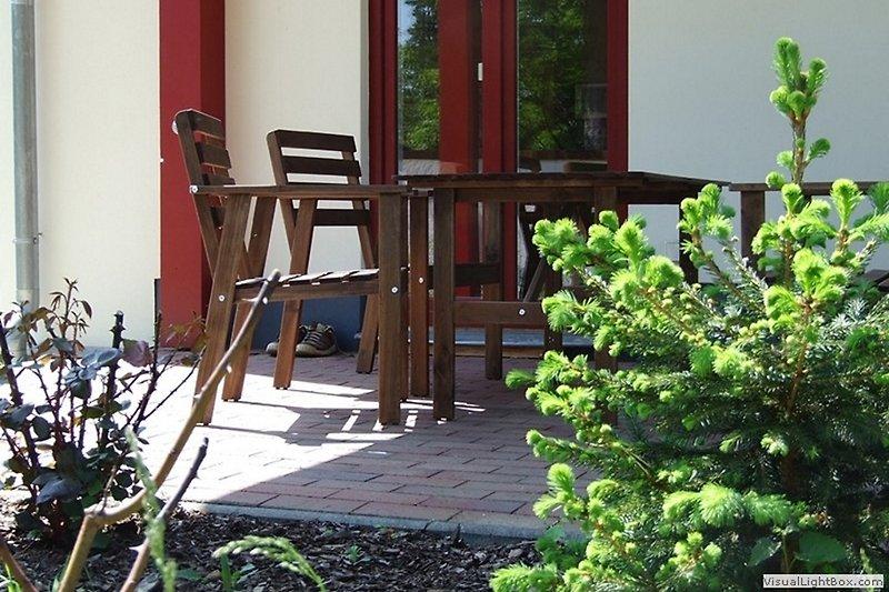 Eine der beiden Terrassen