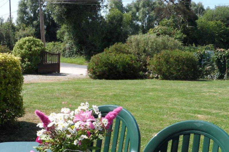 le jardin très calme