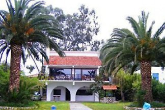 Palmenvilla der blauen Lagune