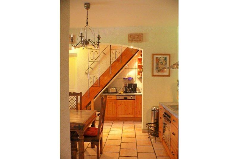 Ein Blick in die Küche, ...