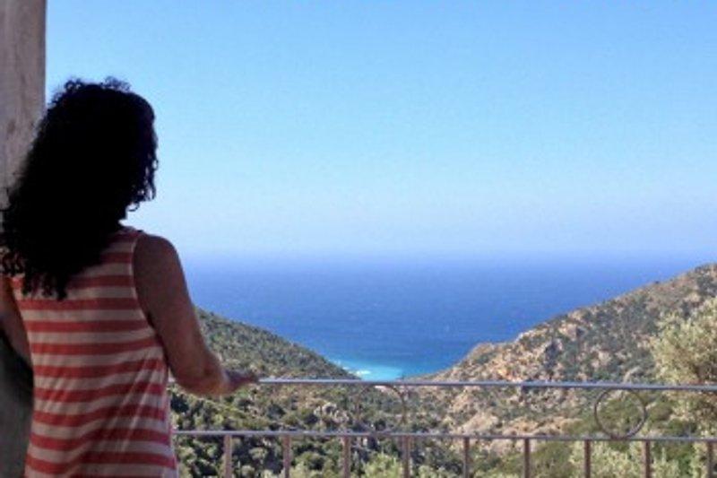 Blick von der Veranda aufs Meer