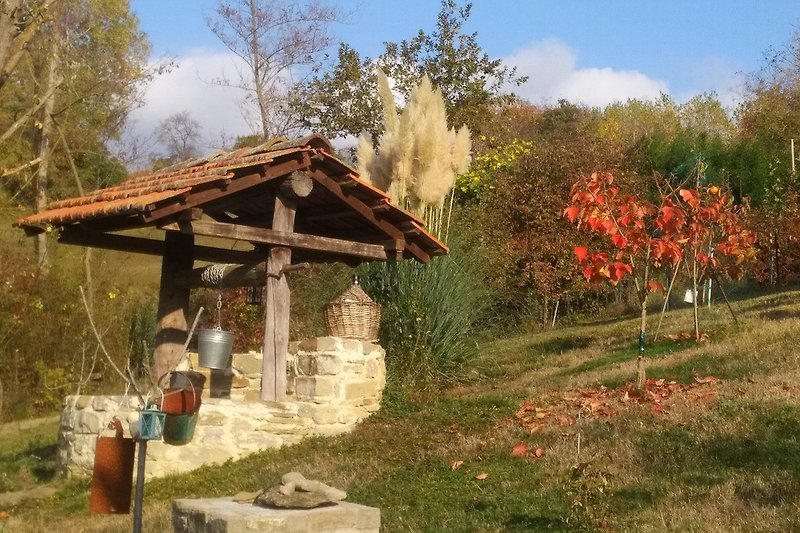 Alter Ziehbrunnen im Herbst