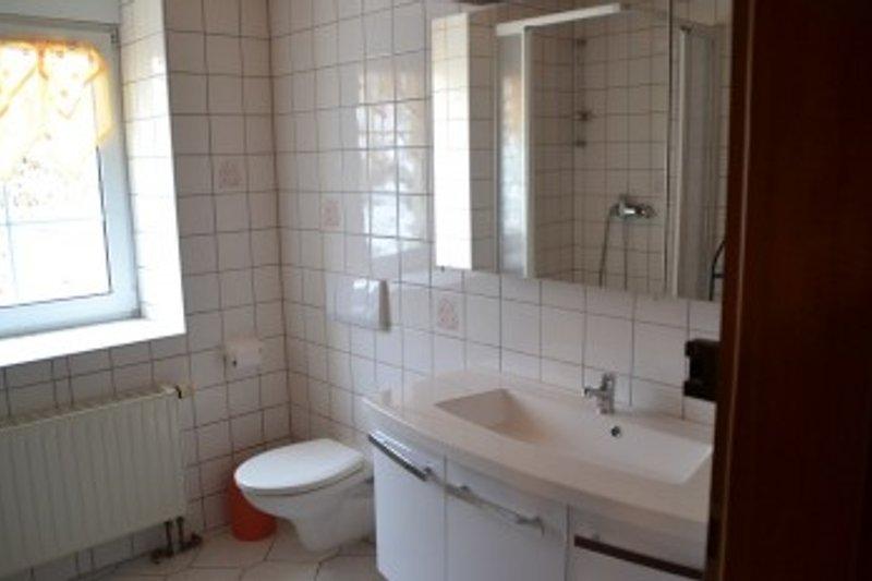 Nasszelle mit Dusche und WC