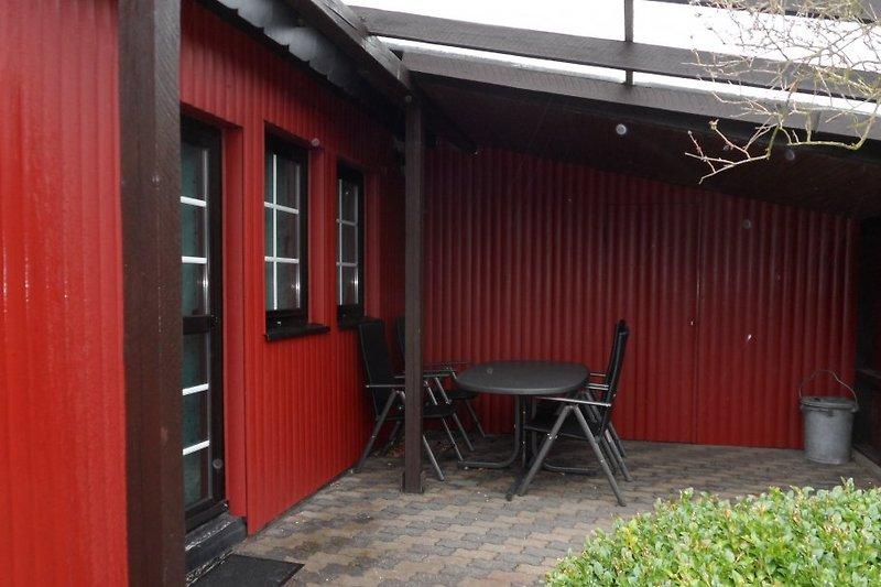 überdachte Terrasse, Platz für 6-7 personen