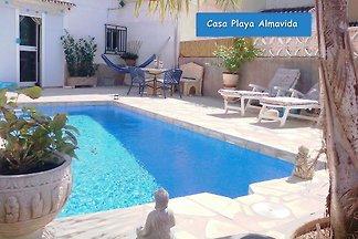 Ferienhaus mit privatem Pool, nur 140 m vom Strand entfernt, für 5 Personen, an der Costa Blanca, Denia, Spanien