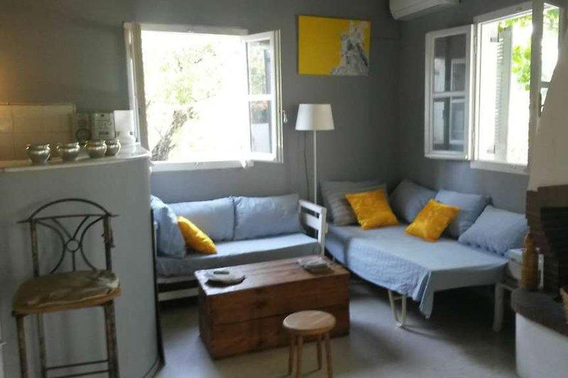 Gemütliche Sitzecke indoor