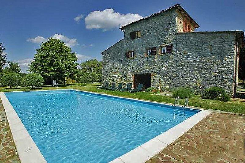 Der Pool der Villa