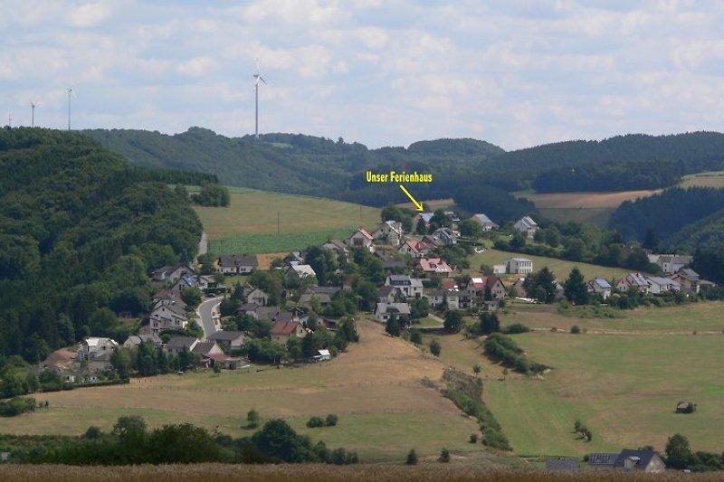 Blick auf Lierfeld/Lünebach