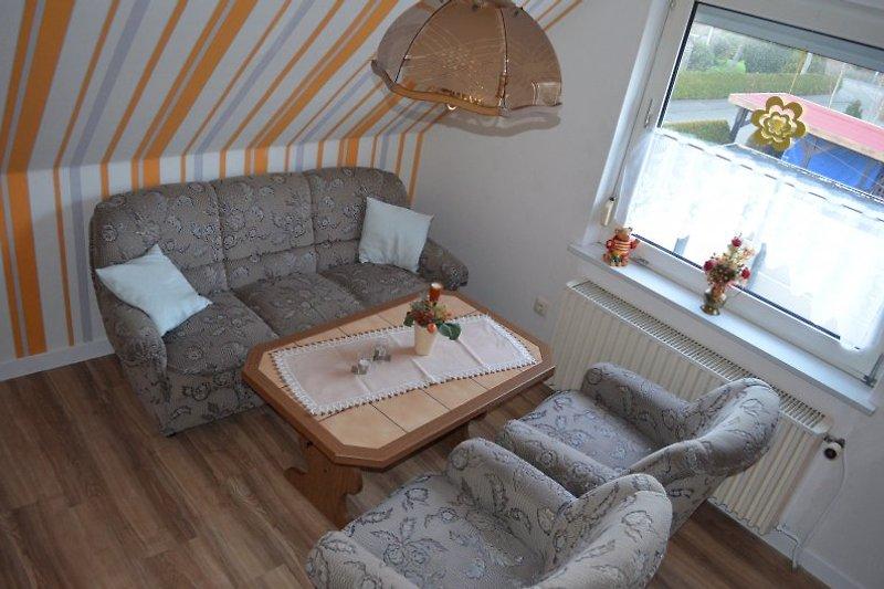 Wohnzimmer mit Kabel-TV