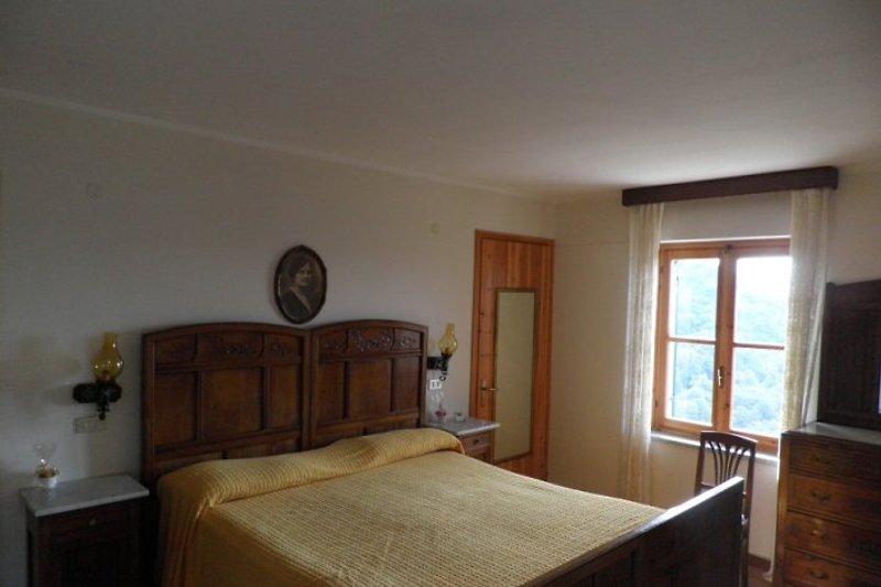 Einer der Schlafzimmer im oberen Stock des Hauses