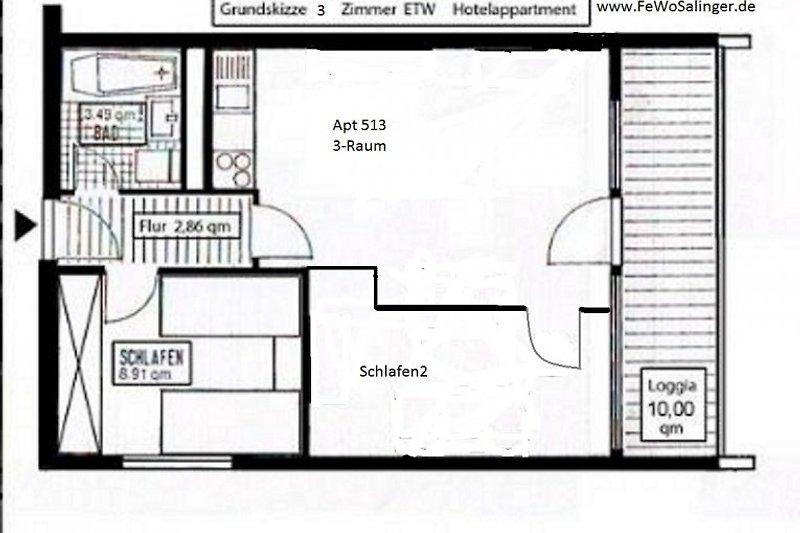 Grundriss Apt.513