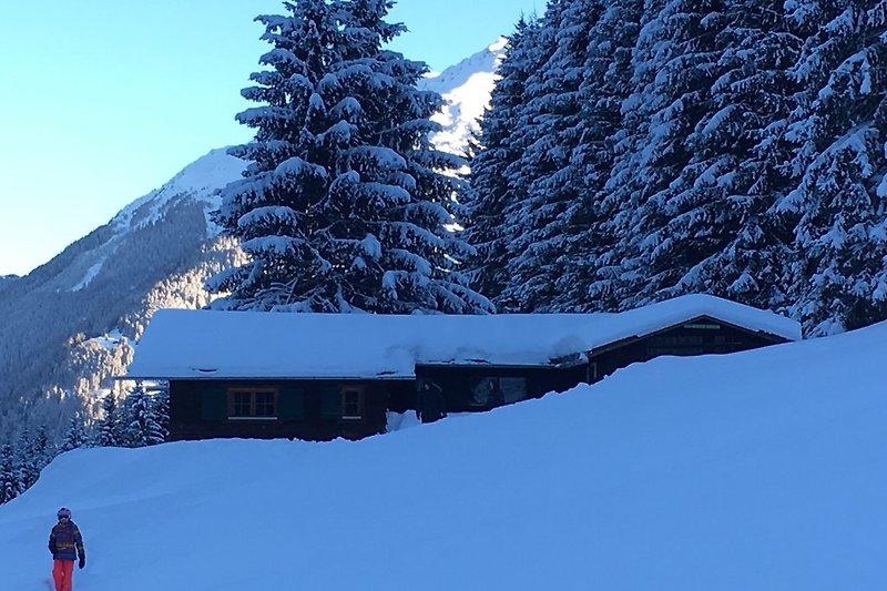Winteridylle beim Haus am Reh